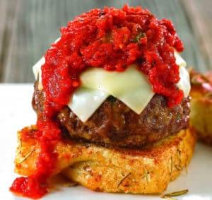 Spicy Italian Meatball Burger Recipe