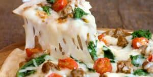 Sausage Rapini and Tomato Pizza Recipe