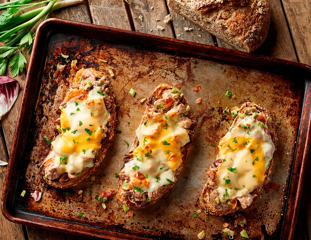 Gourmet Tuna Melt with Charred Radicchio Recipe