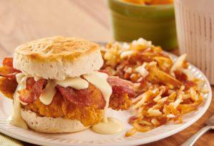 Chicken and Cheese Gravy Biscuits Recipe