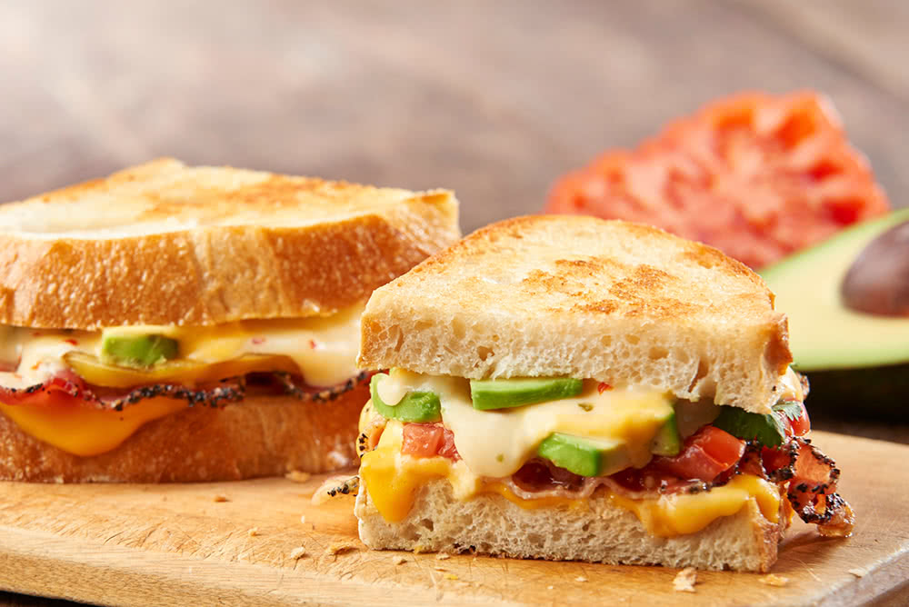 Avocado and Bacon Grilled Cheese Recipe