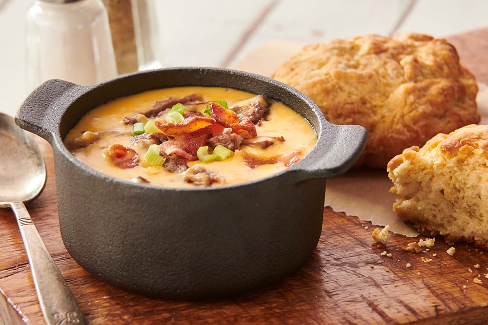 BBQ Short Rib Cheese Soup