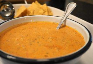 Cheesy Chorizo Rice Soup