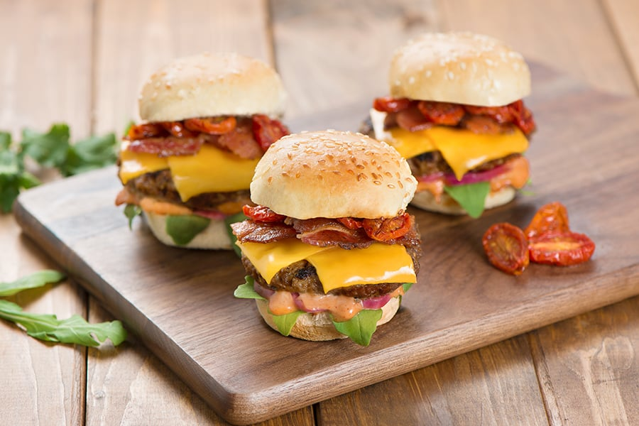 Imitation Cheese Burger Sliders