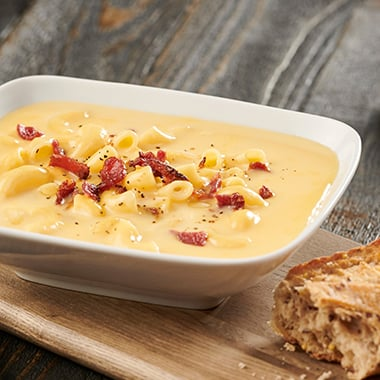Bacon Mac & Cheese Soup