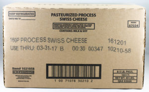 Process Swiss Cheese Slices
