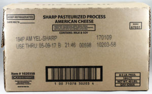 Sharp Pasteurized Process American Cheese Slices